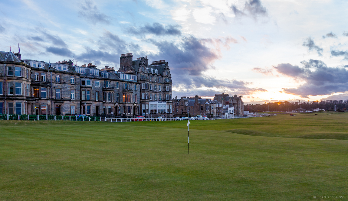 The Old Course at St. Andrews 18th hole